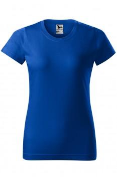 Tricou femei, bumbac 100%, Malfini Basic, albastru regal