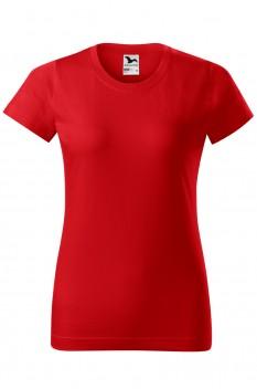 Tricou femei, bumbac 100%, Malfini Basic, rosu