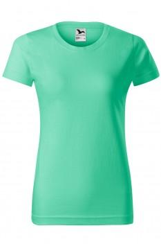 Tricou femei, bumbac 100%, Malfini Basic, verde menta