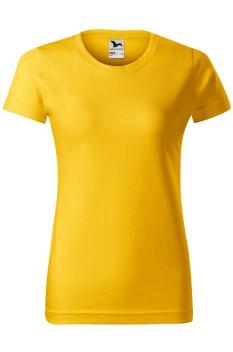 Tricou femei, bumbac 100%, Malfini Basic, galben