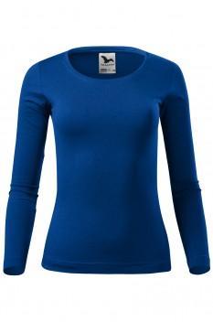 Tricou cu maneca lunga femei, bumbac 100%, Malfini Fit-T Long Sleeve, albastru regal