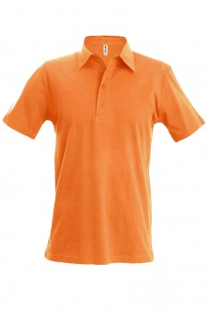 Tricou polo barbati, bumbac 100%, Kariban KA227, Light Orange