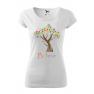 Tricou personalizat Believe, pentru femei, alb, 100% bumbac