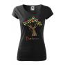 Tricou personalizat Believe, pentru femei, negru, 100% bumbac