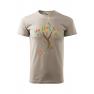 Tricou personalizat Believe, pentru barbati, gri ice, 100% bumbac