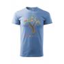 Tricou personalizat Believe, pentru barbati, albastru deschis, 100% bumbac