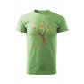 Tricou personalizat Believe, pentru barbati, verde iarba, 100% bumbac