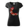Tricou personalizat Beautiful Roses, pentru femei, negru, 100% bumbac