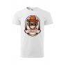 Tricou personalizat Gangster, pentru barbati, alb, 100% bumbac