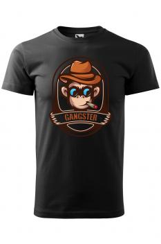 Tricou personalizat Gangster, pentru barbati, negru, 100% bumbac