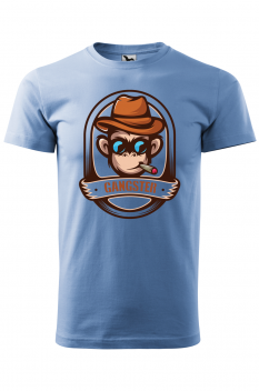 Tricou personalizat Gangster, pentru barbati, albastru deschis, 100% bumbac