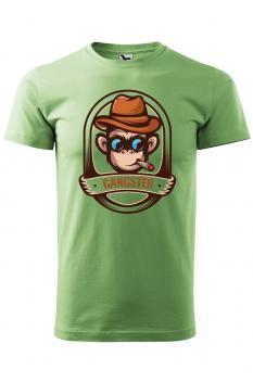 Tricou personalizat Gangster, pentru barbati, verde iarba, 100% bumbac