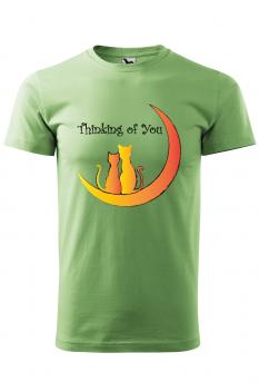 Tricou personalizat Thinking of You, pentru barbati, verde iarba, 100% bumbac