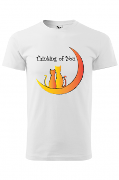Tricou personalizat Thinking of You, pentru barbati, alb, 100% bumbac