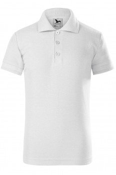 Tricou polo pentru copii Malfini Pique, alb