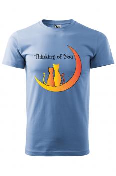 Tricou personalizat Thinking of You, pentru barbati, albastru deschis, 100% bumbac