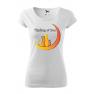 Tricou personalizat Thinking of You, pentru femei, alb, 100% bumbac