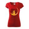 Tricou personalizat Thinking of You, pentru femei, rosu, 100% bumbac