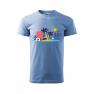 Tricou personalizat Time to Travel, pentru barbati, albastru deschis, 100% bumbac