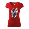 Tricou personalizat My Rules, pentru femei, rosu, 100% bumbac