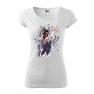Tricou personalizat My Rules, pentru femei, alb, 100% bumbac