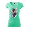 Tricou personalizat My Rules, pentru femei, verde menta, 100% bumbac