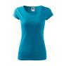 Tricou personalizat Portrait, pentru femei, turcoaz, 100% bumbac