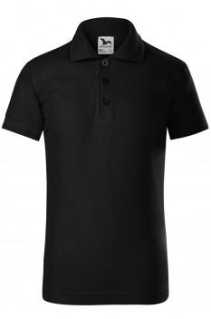 Tricou polo pentru copii Malfini Pique, negru