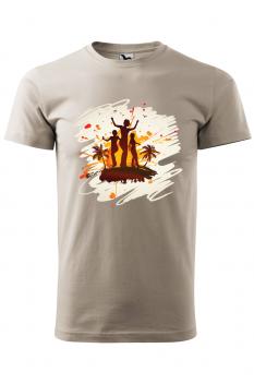Tricou personalizat Tropical Summer, pentru barbati, gri ice, 100% bumbac