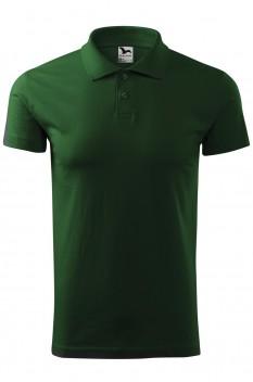 Tricou polo barbati, bumbac 100%, Malfini Single Jersey, verde sticla