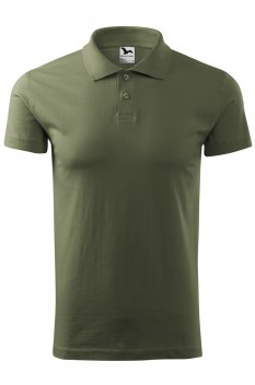 Tricou polo barbati, bumbac 100%, Malfini Single Jersey, khaki