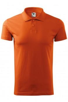Tricou polo barbati, bumbac 100%, Malfini Single Jersey, portocaliu