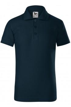 Tricou polo pentru copii Malfini Pique, albastru marin