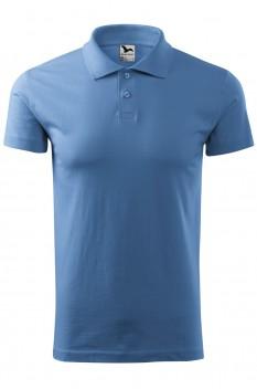 Tricou polo barbati Malfini Single Jersey, albastru deschis