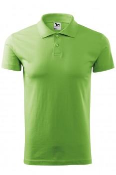 Tricou polo barbati, bumbac 100%, Malfini Single Jersey, verde iarba