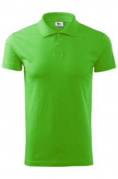 Tricou polo barbati, bumbac 100%, Malfini Single Jersey, verde mar
