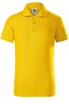 Tricou polo copii Malfini Pique, galben