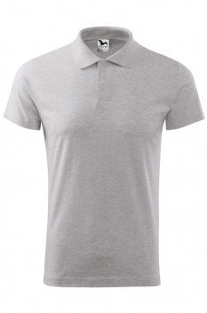 Tricou polo barbati Malfini Single Jersey, gri deschis