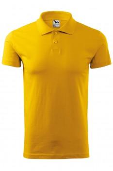 Tricou polo barbati, bumbac 100%, Malfini Single Jersey, galben