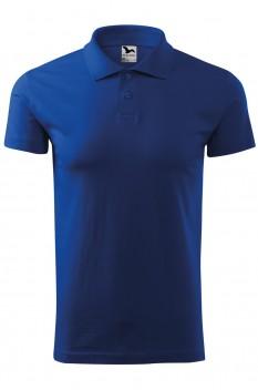 Tricou polo barbati, bumbac 100%, Malfini Single Jersey, albastru regal