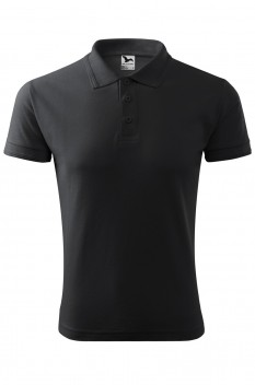 Tricou polo barbati Malfini Pique, ebony gray