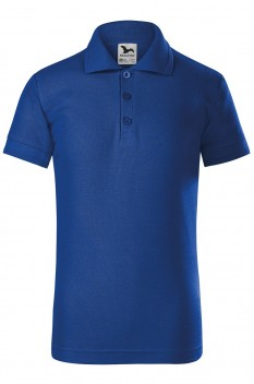 Tricou polo copii Malfini Pique, albastru regal