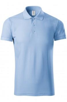 Tricou polo barbati Piccolio Joy, albastru deschis