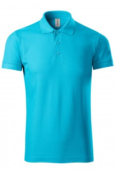 Tricou polo barbati Piccolio Joy, turcoaz