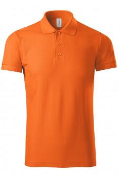 Tricou polo barbati Piccolio Joy, portocaliu