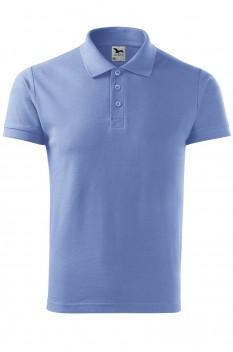 Tricou polo barbati, bumbac 100%, Malfini Cotton, albastru deschis