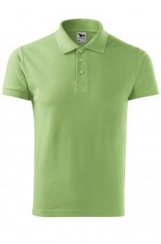 Tricou polo barbati, bumbac 100%, Malfini Cotton, verde iarba