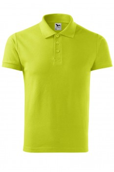 Tricou polo barbati, bumbac 100%, Malfini Cotton, lime