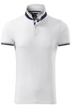 Tricou polo barbati, bumbac 100%, Malfini Premium Collar Up, alb
