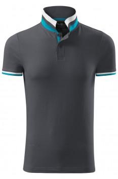 Tricou polo pentru barbati Malfini Premium Collar Up, antracit deschis